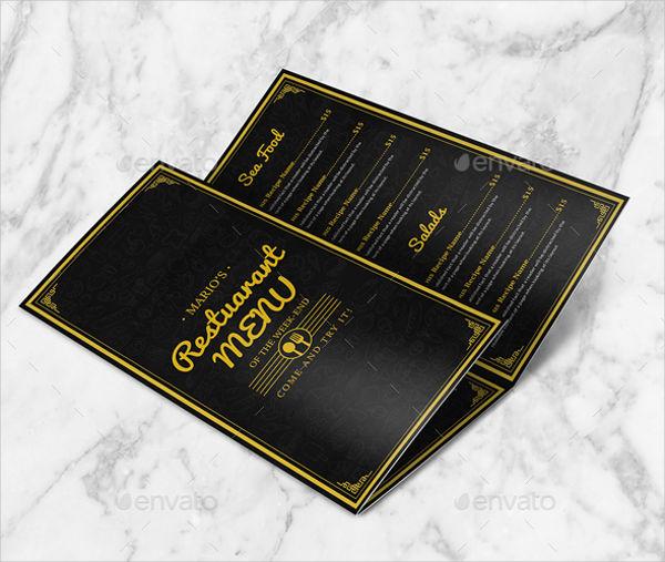 Tri Fold Restaurant Catering Brochure