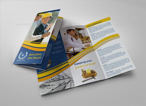 Tri Fold Construction Company Brochure