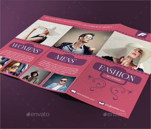 Tri Fold Fashion Event Brochure
