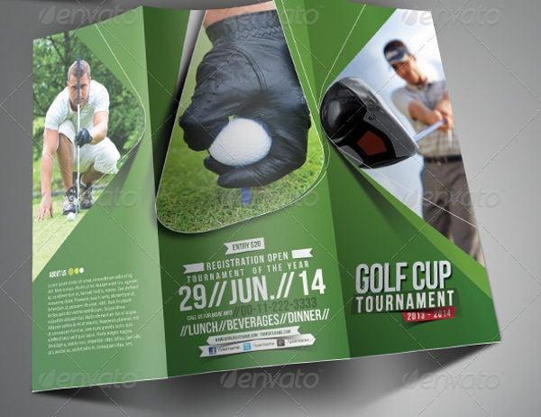Tri Fold Golf Event Brochure