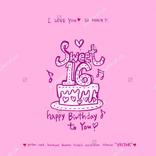 vintage-sweet-16-birthday-poster