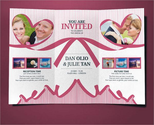 Tri Fold Wedding Holiday Brochure