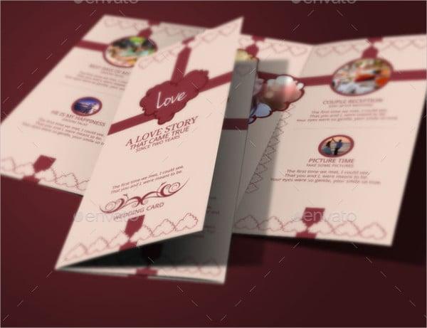 Tri Fold Wedding Destination Brochure