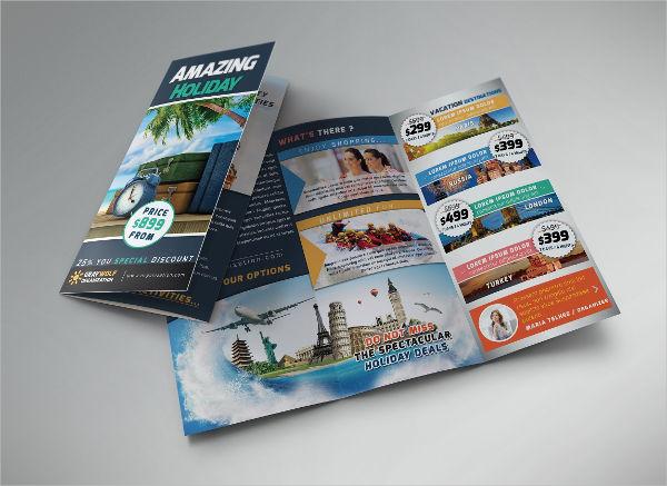 Luxury Tri Fold Holiday Brochure