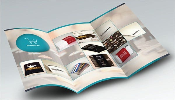 Tri Fold Product Catalogue Brochure