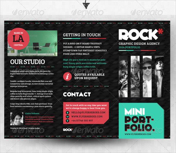 Tri Fold Product Portfolio Brochure