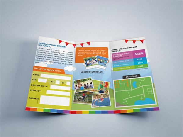 Tri Fold School Camp Brochure