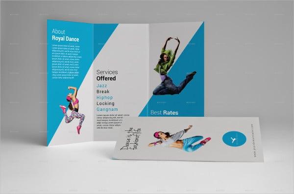 tri fold dance school brochure