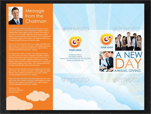 College Tri Fold Fundraising Brochure
