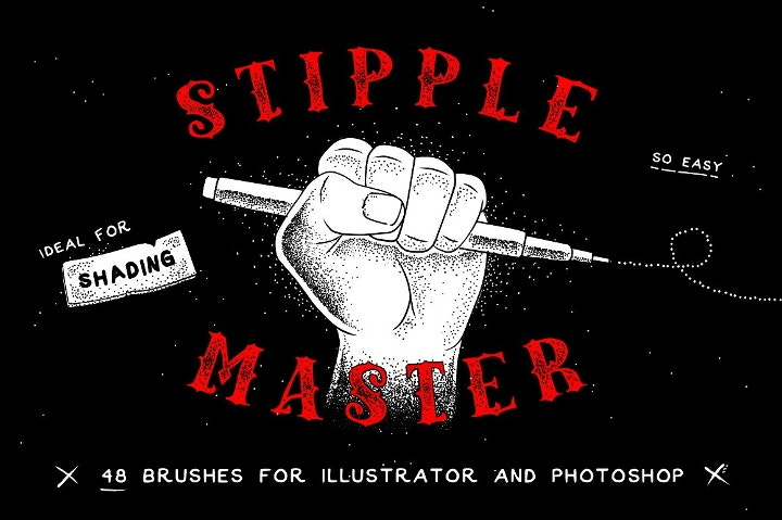 stipple post photoshop brushes
