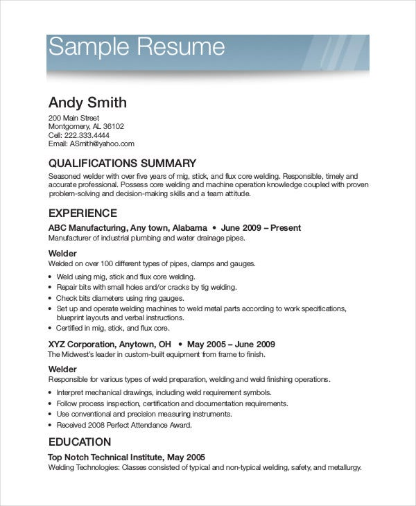 Printable Resume Template 35 Free Word Pdf Documents Download Free Premium Templates