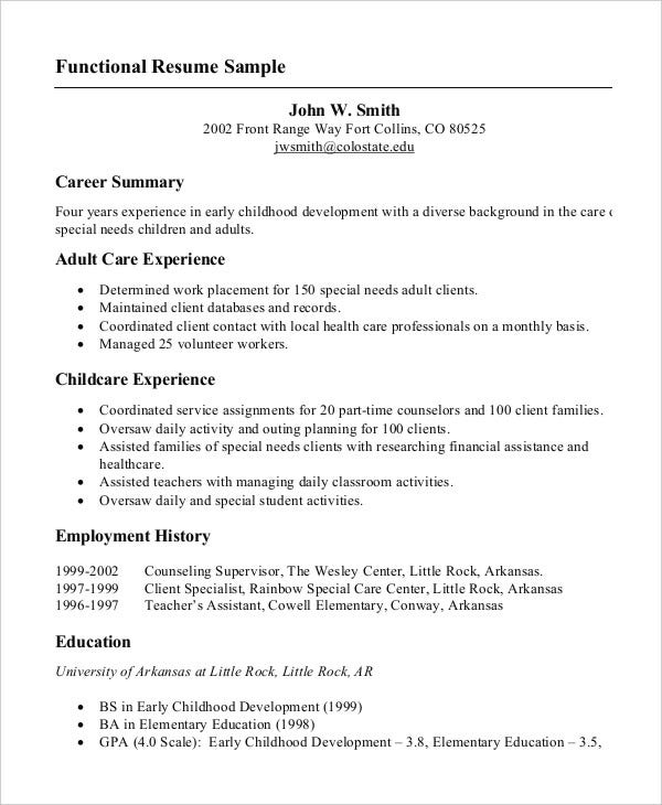 Printable Resume Example  Printable Resume Examples