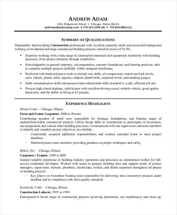 printable resume template