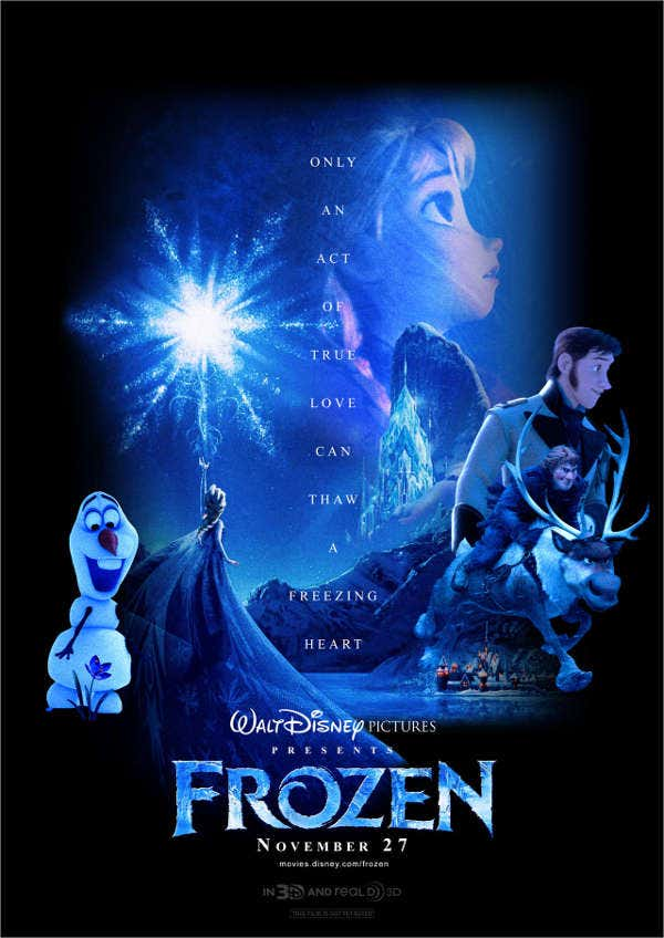 Frozen Movie Advertising Poster