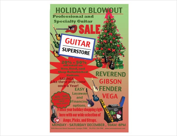 Holiday Sale Advertising Poster