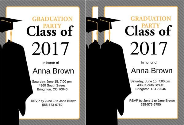 48  sample graduation invitation designs  u0026 templates