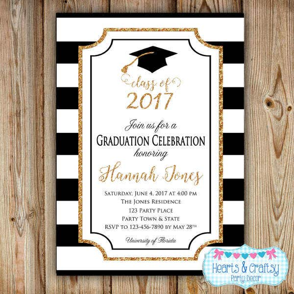 Graduation Invitation Designs  Free  Premium Templates
