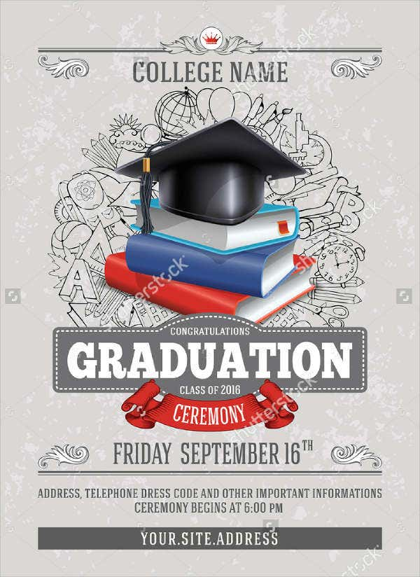Sample graduation invitations free premium templates high school graduation ceremony invitation stopboris Choice Image