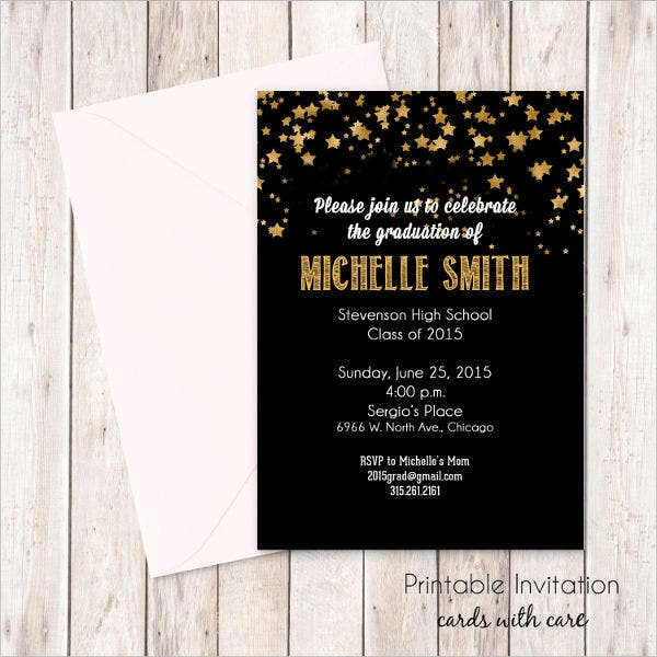 Sample graduation invitations free premium templates high school graduation invitation wording stopboris Choice Image