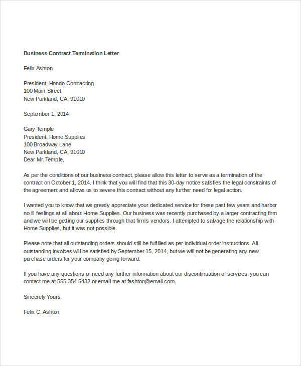 business contract termination letter2