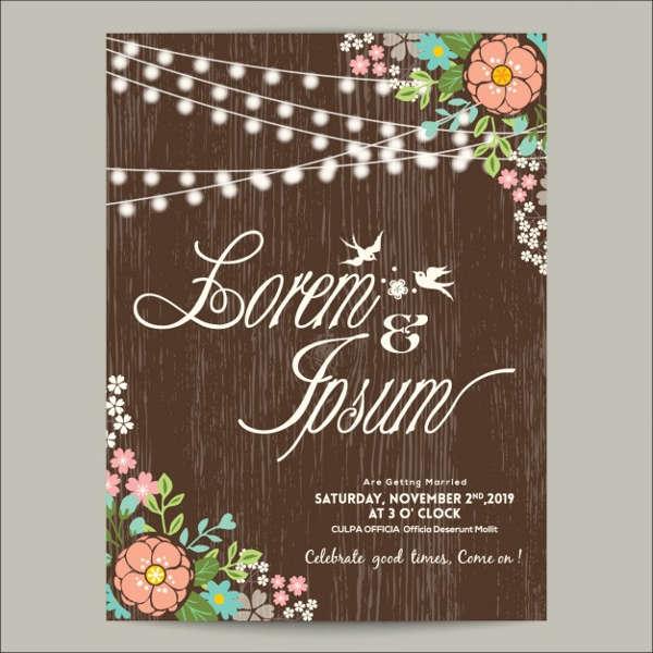 floral wreath wedding invitation2