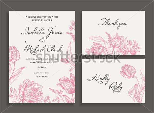 Wedding invitations in pdf free premium templates rustic floral wedding invitation stopboris Choice Image