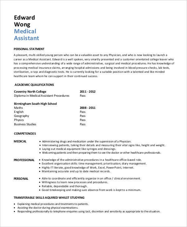 sample cover letter medical assistant