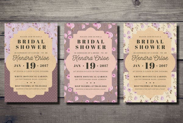 -Rustic Brunch Bridal Shower Invitation