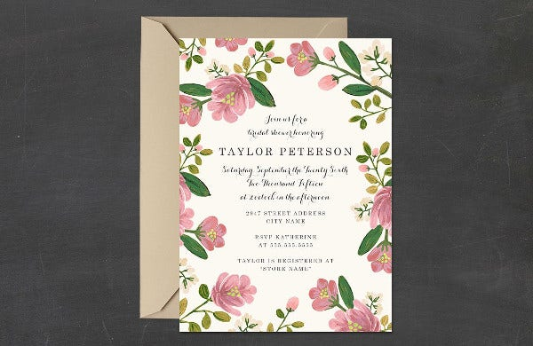 -Rustic Fall Bridal Shower Invitation