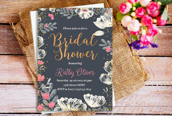 -Rustic Garden Bridal Shower Invitation