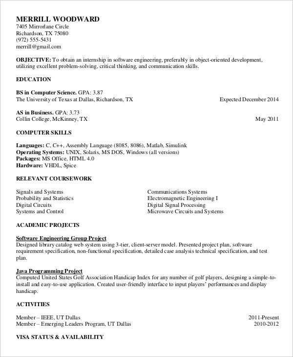 free printable professional resume template