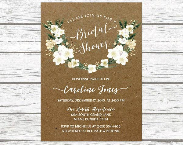 -Winter Rustic Bridal Shower Invitation