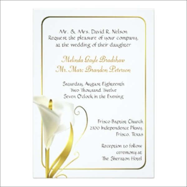 Wedding Invitations In PDF Free Premium Templates