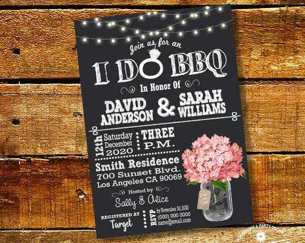 -Mason Jar Themed Bridal Shower Invitation