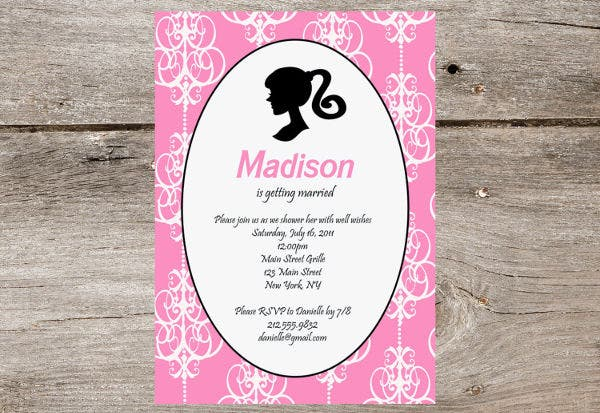 -Vintage Barbie Bridal Shower Invitation