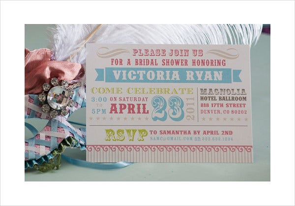 -Vintage Circus Bridal Shower Invitation
