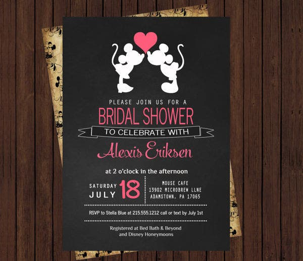 -Disney Vintage Bridal Shower Invitation