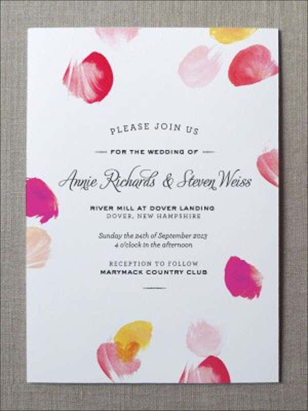 printable watercolors wedding invitation