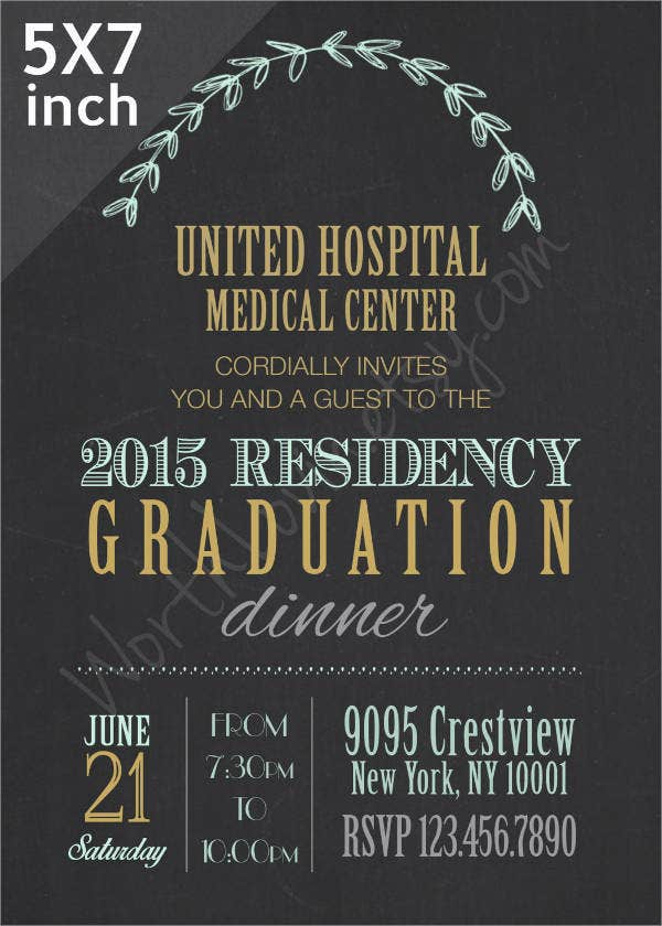Sample Graduation Invitations – Graduation Dinner Invitations