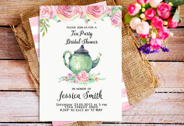 -Royal Tea Party Bridal Shower Invitation