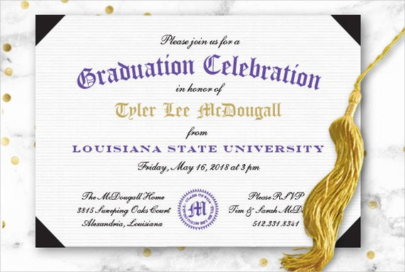 41 Graduation Invitation Designs Free Premium Templates