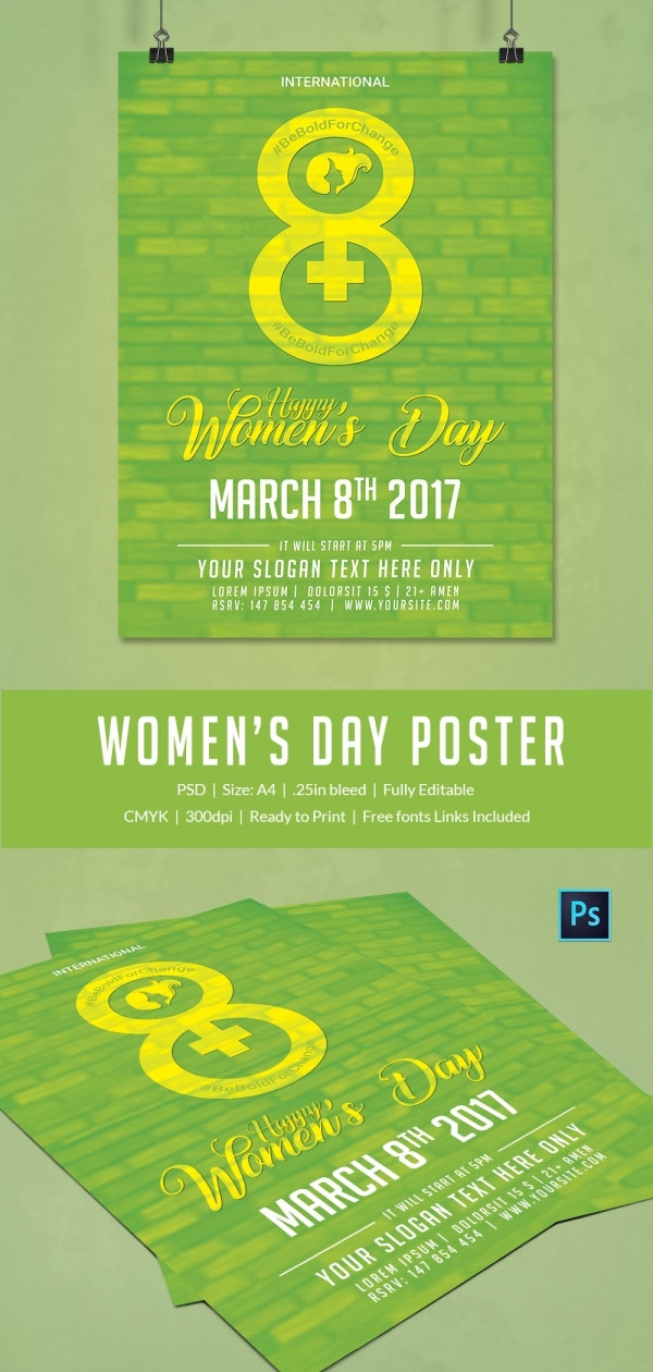 Printable Women's Day Poster