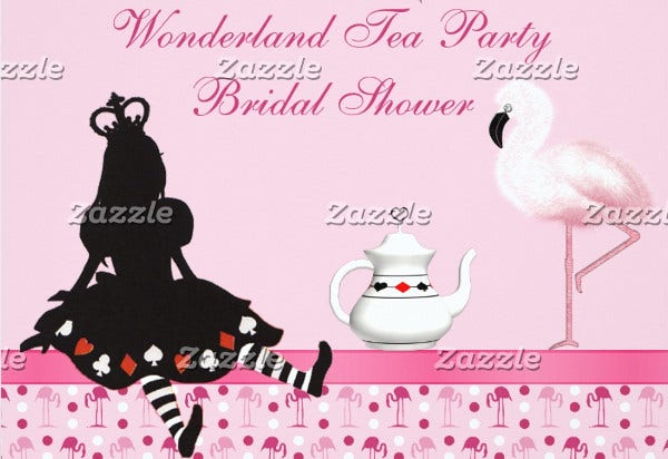 -Princess Tea Party Bridal Shower Invitation