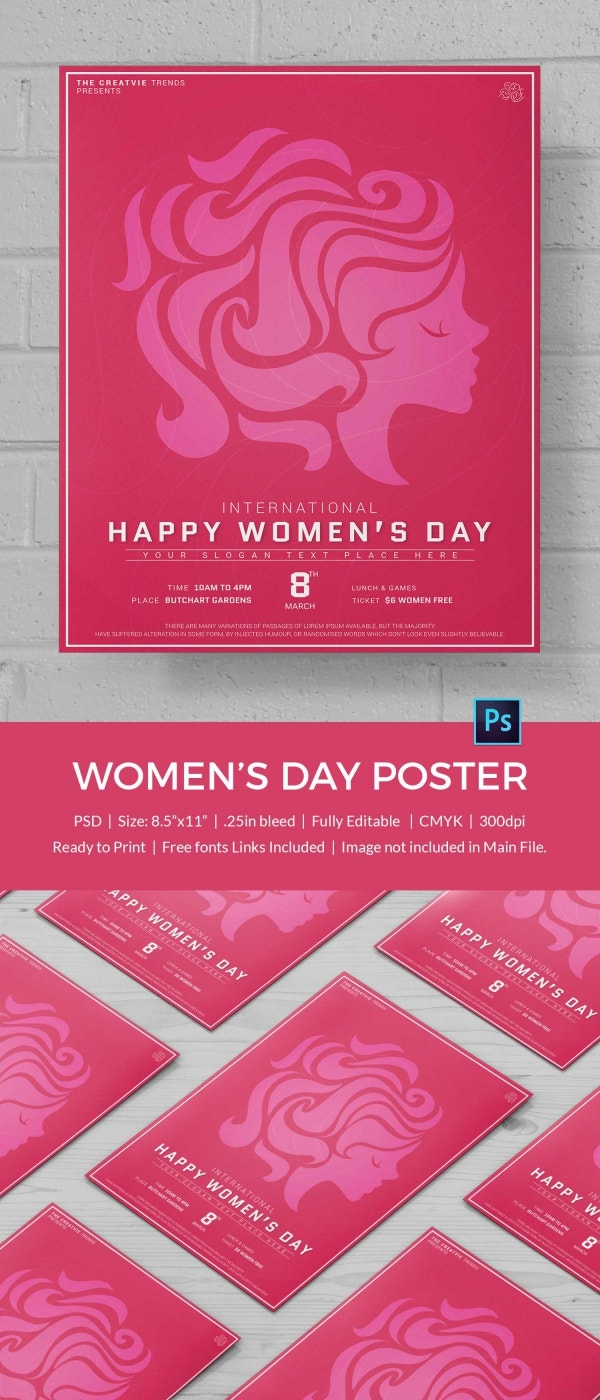 Customize Women's Day Poster Template