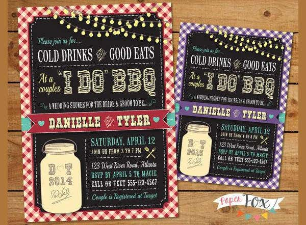 -Country BBQ Bridal Shower Invitation