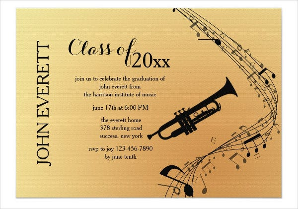 49  graduation invitation designs  u0026 templates