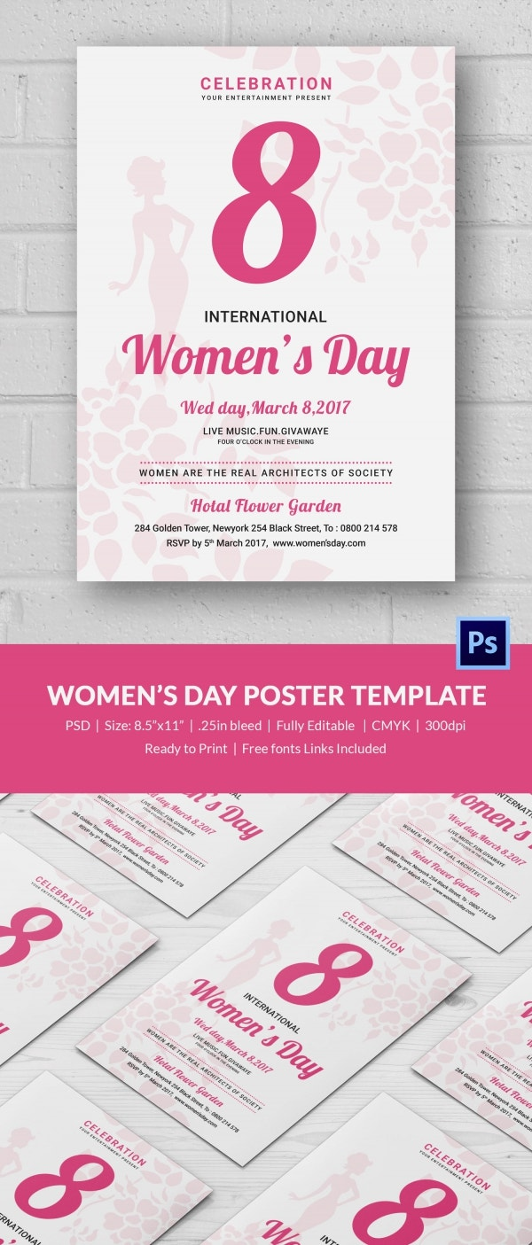 Editable Women's Day Poster Template