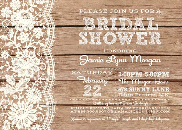 -Cute Country Bridal Shower Invitation