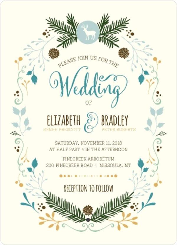photo frame wedding invitation
