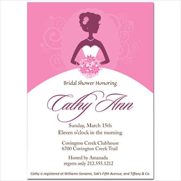 photo bridal shower wedding invitation
